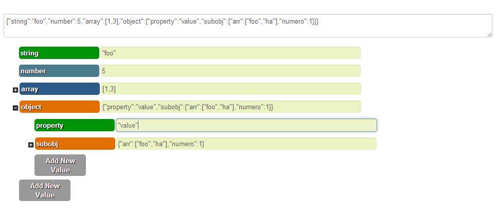 JSONmate - JSON editor jQuery plugin
