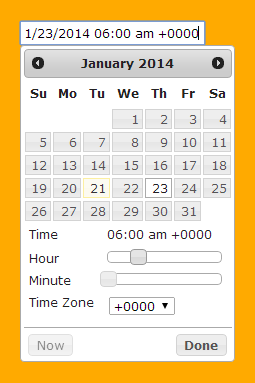 Jquery datepicker options timezone